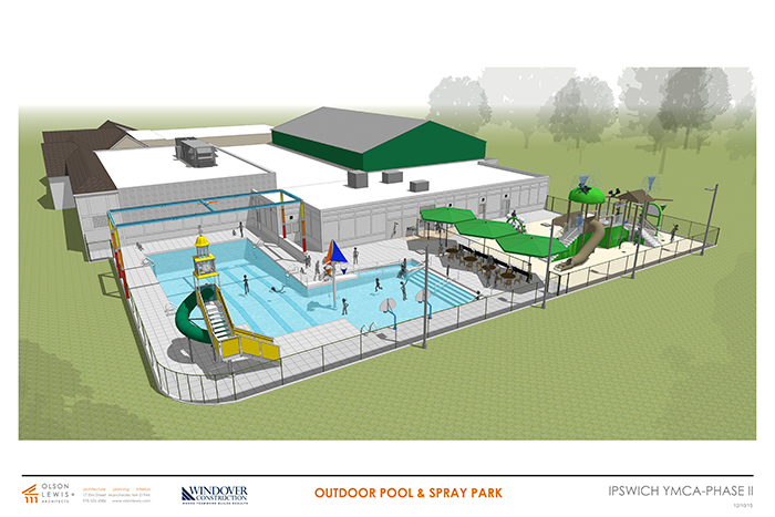 Rendering of YMCA Outdoor Aquatic Center