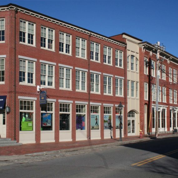 front of building