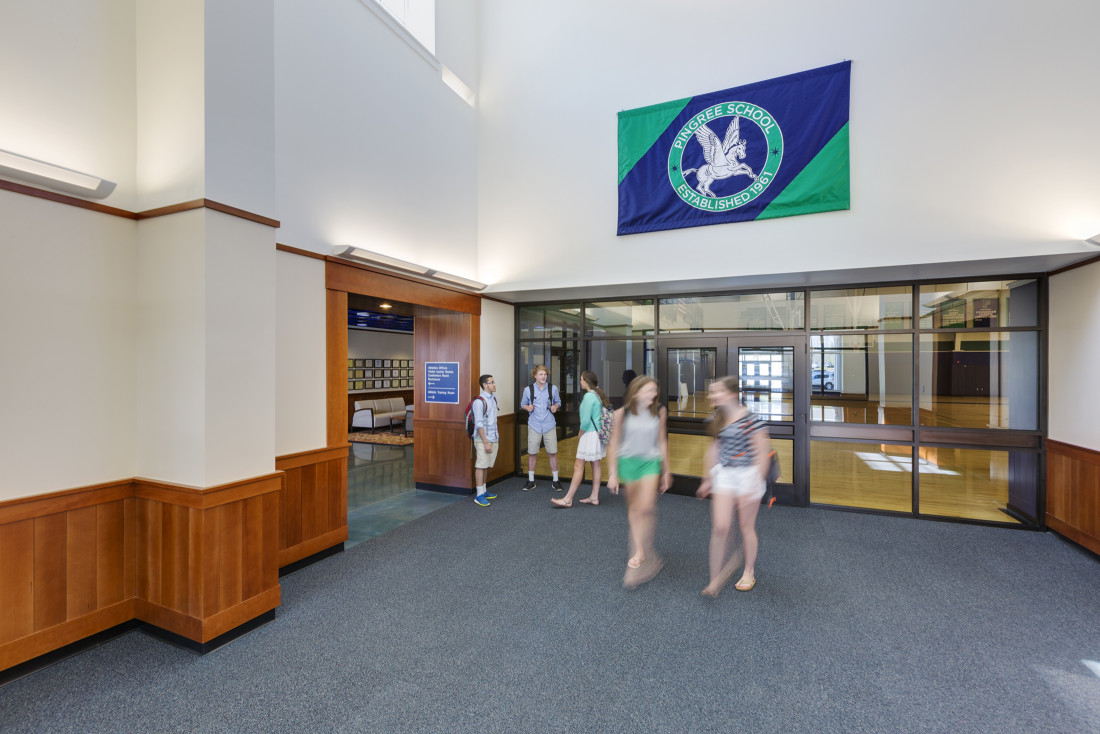 Pingree Athletics Wing Entry Hall
