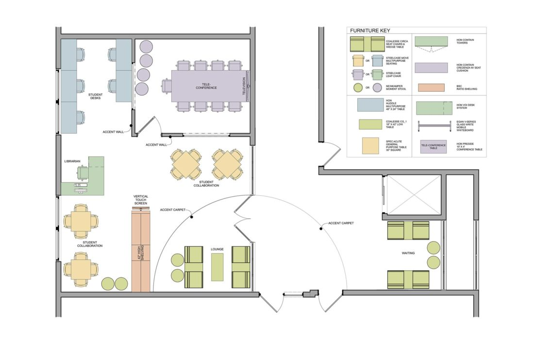 Learning prep school olson lewis architects for Media center plans