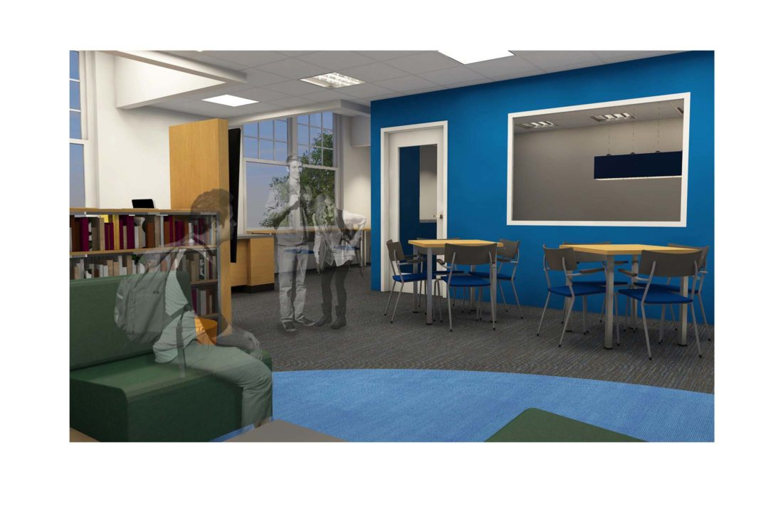 library | media center rendering