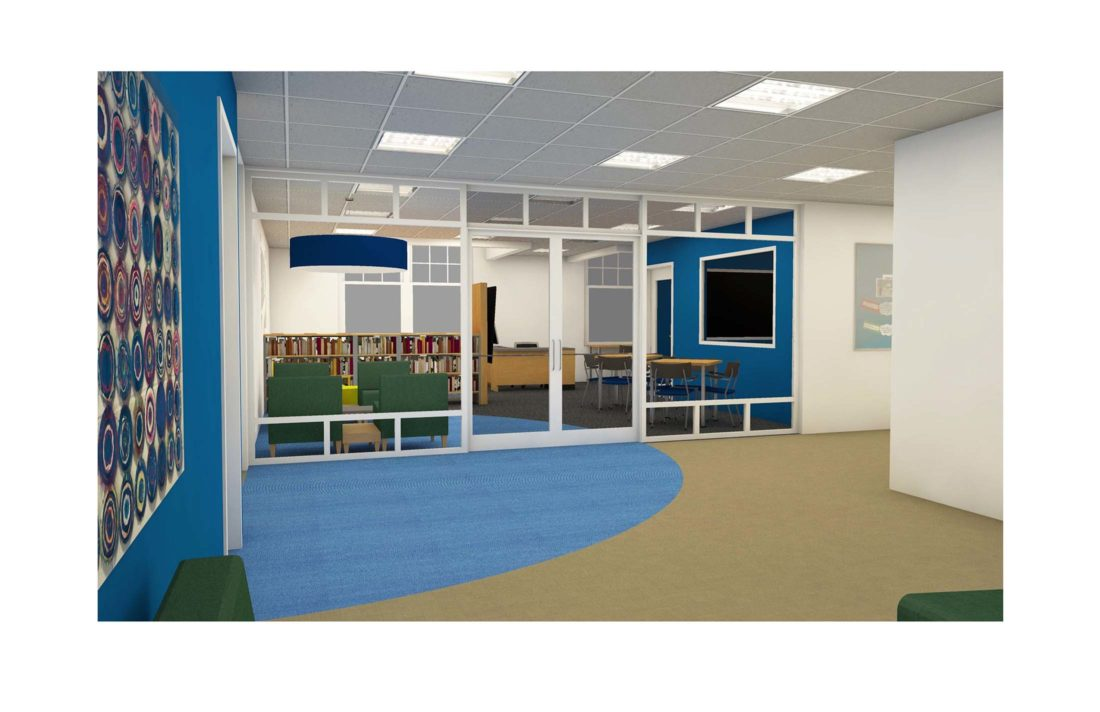 entrance library | media center rendering